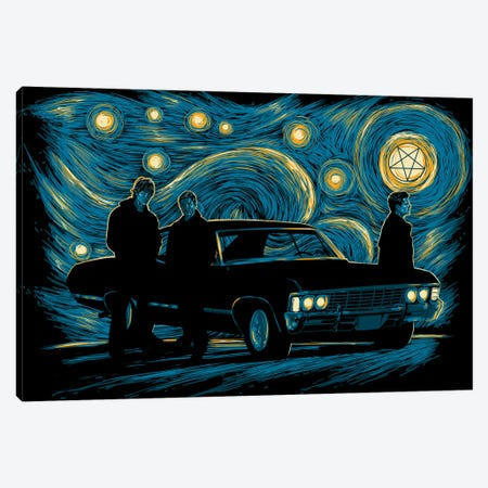 Supernatural Night Canvas Print #DOI160} by Denis Orio Ibañez Canvas Art Print