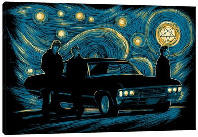 Supernatural Night Canvas Art Print