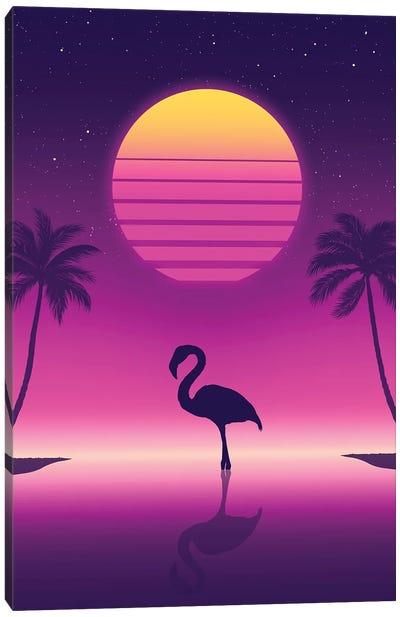 Sunset Flamingo Canvas Art Print