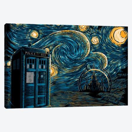 Starry Gallifrey Canvas Print #DOI169} by Denis Orio Ibañez Canvas Art Print