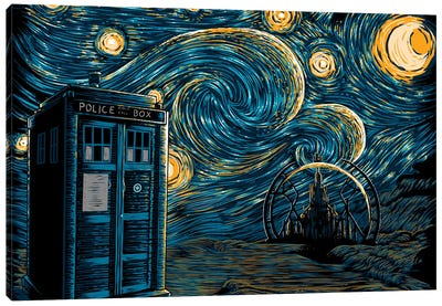 Starry Gallifrey Canvas Art Print