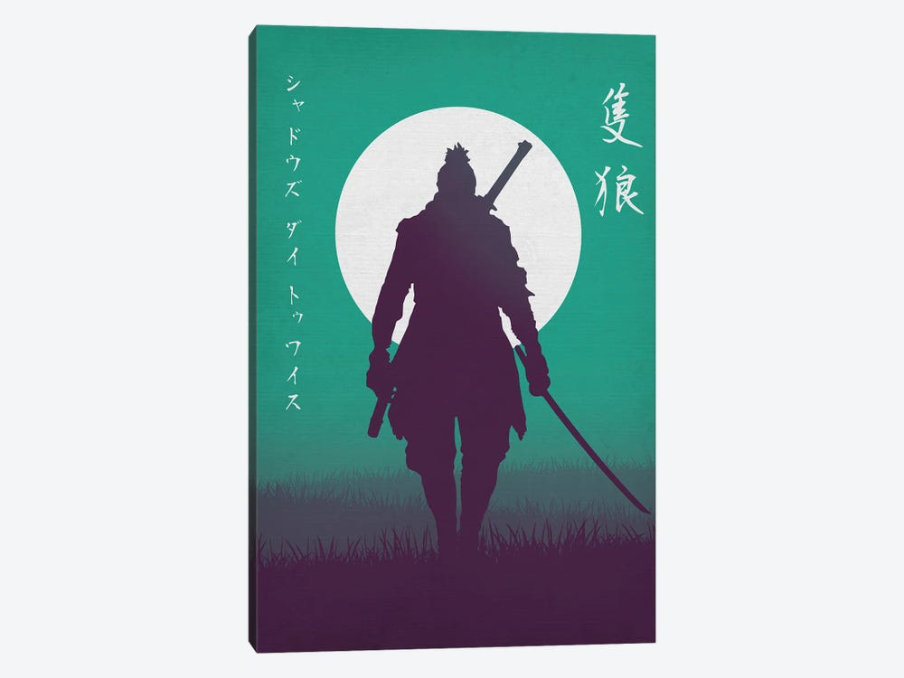 Wolf The Shinobi by Denis Orio Ibañez 1-piece Canvas Print
