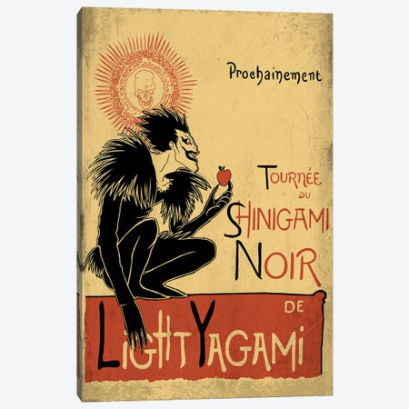 Shinigami Noir Canvas Print #DOI174} by Denis Orio Ibañez Art Print