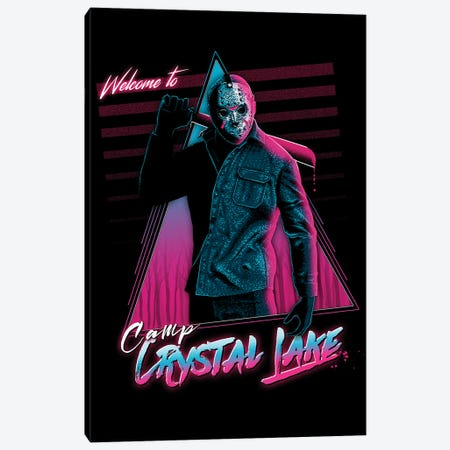 Welcome To Crystal Lake Canvas Print #DOI18} by Denis Orio Ibañez Canvas Art Print