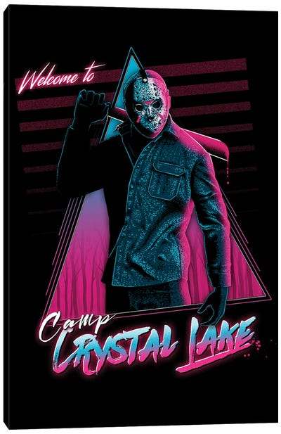 Welcome To Crystal Lake Canvas Art Print