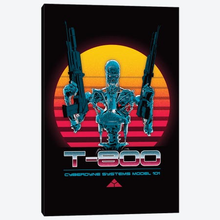 T-800 Series Canvas Print #DOI195} by Denis Orio Ibañez Art Print