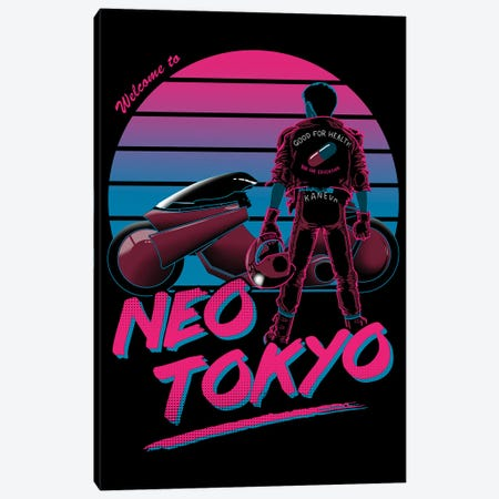 Welcome To Neo Tokyo Canvas Print #DOI20} by Denis Orio Ibañez Canvas Wall Art