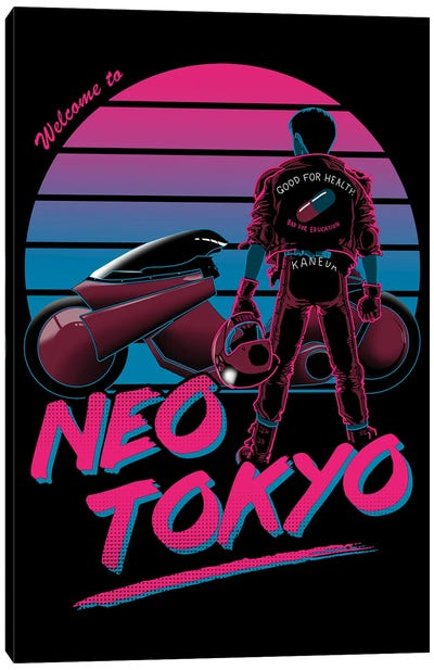 Welcome To Neo Tokyo Canvas Art Print
