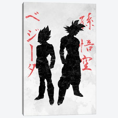 Saiyans Canvas Print #DOI211} by Denis Orio Ibañez Art Print