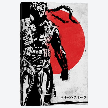 Solid Snake Canvas Print #DOI212} by Denis Orio Ibañez Canvas Art Print