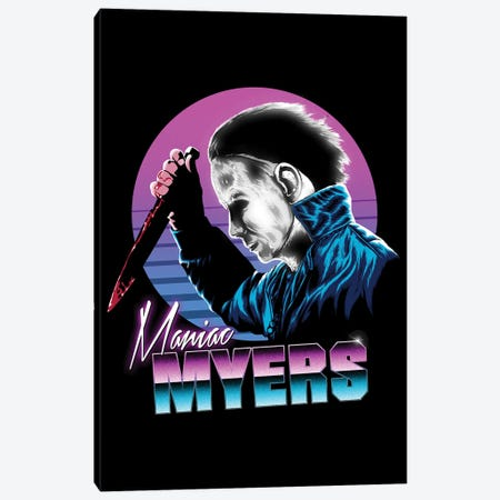 Retro Myers Canvas Print #DOI221} by Denis Orio Ibañez Canvas Artwork