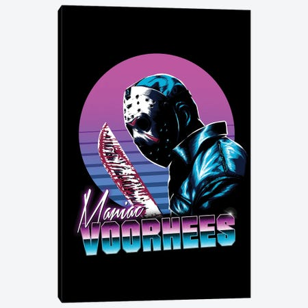 Retro Voorhees Canvas Print #DOI222} by Denis Orio Ibañez Canvas Art