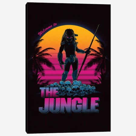 Welcome To The Jungle Canvas Print #DOI22} by Denis Orio Ibañez Canvas Artwork