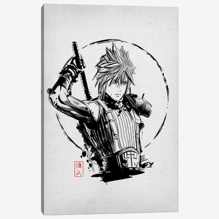 Mercenary Warrior Canvas Print #DOI235} by Denis Orio Ibañez Canvas Artwork