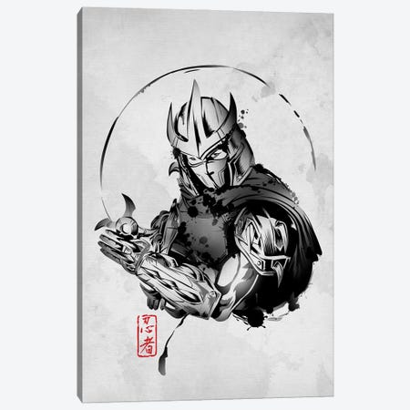 Ninja Villain Canvas Print #DOI236} by Denis Orio Ibañez Canvas Artwork
