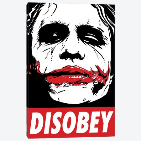 Chaos And Disobey Canvas Print #DOI244} by Denis Orio Ibañez Art Print