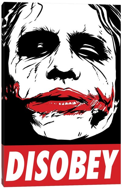 Chaos And Disobey Canvas Art Print