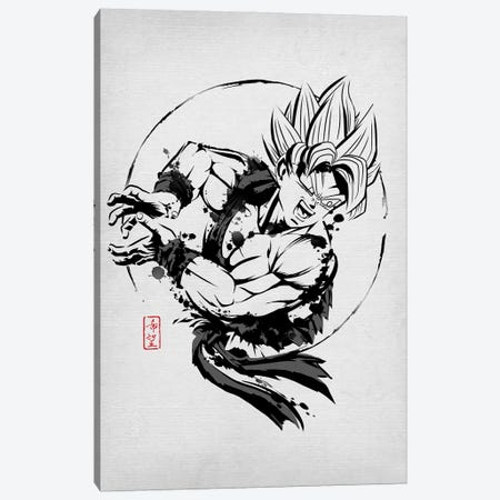 SSJ Warrior Canvas Print #DOI255} by Denis Orio Ibañez Canvas Wall Art