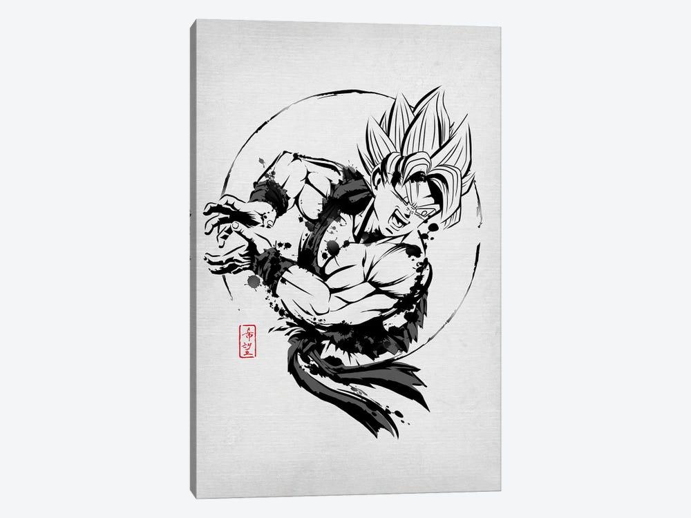 SSJ Warrior by Denis Orio Ibañez 1-piece Canvas Art Print