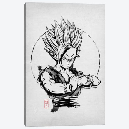 SSJ Rage Canvas Print #DOI256} by Denis Orio Ibañez Canvas Wall Art