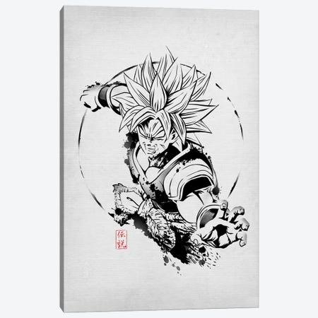 SSJ Legendary Canvas Print #DOI265} by Denis Orio Ibañez Canvas Print