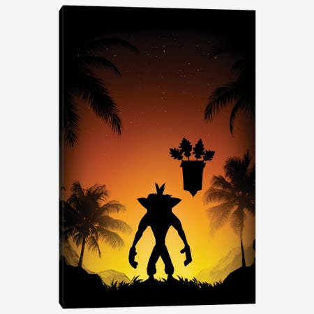 Protector Of The Island Canvas Print #DOI270} by Denis Orio Ibañez Canvas Art Print