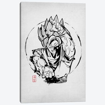 SSJ Warrior Canvas Print #DOI279} by Denis Orio Ibañez Canvas Art Print