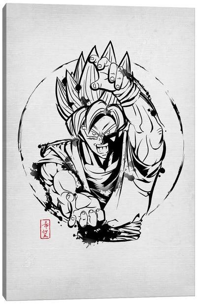 SSJ Warrior Canvas Art Print