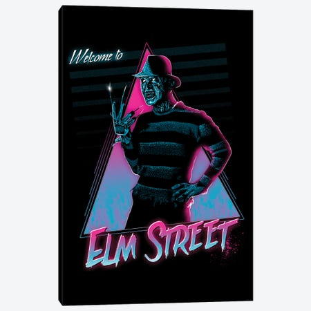 Welcome To Elm Street Canvas Print #DOI27} by Denis Orio Ibañez Art Print