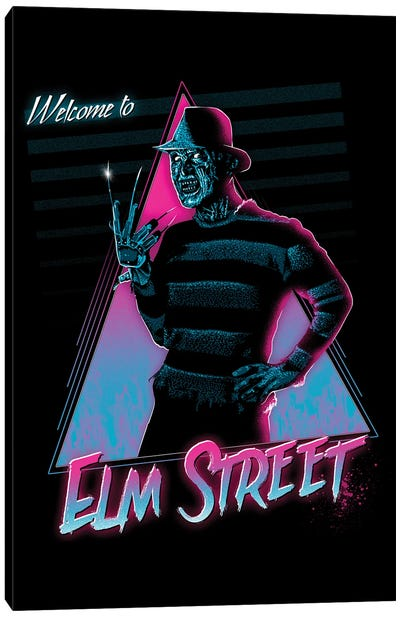 Welcome To Elm Street Canvas Art Print