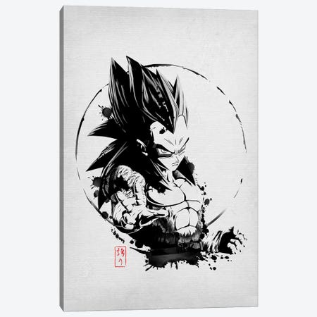 SSJ Prince Canvas Print #DOI280} by Denis Orio Ibañez Canvas Wall Art