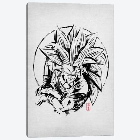SSJ Warrior Canvas Print #DOI284} by Denis Orio Ibañez Art Print