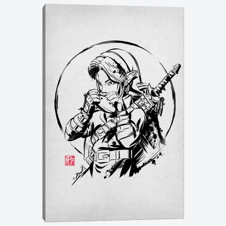 Ink Ocarina Canvas Print #DOI290} by Denis Orio Ibañez Art Print