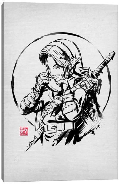Ink Ocarina Canvas Art Print