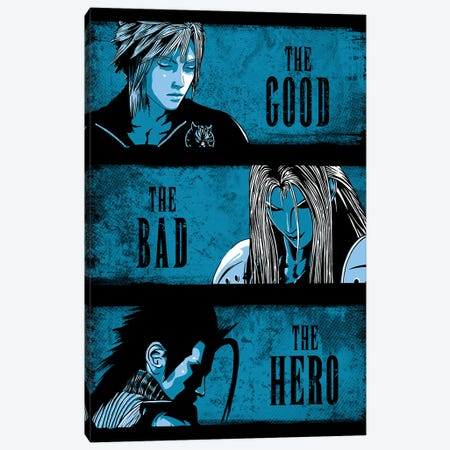 The Good The Bad And The Hero Canvas Print #DOI327} by Denis Orio Ibañez Canvas Art