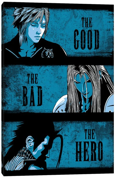 The Good The Bad And The Hero Canvas Art Print