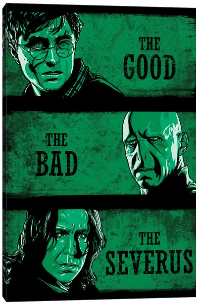 The Good The Bad And The Severus Canvas Art Print