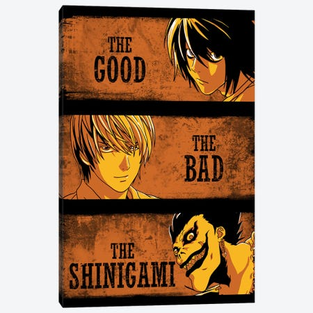 The Good, The Bad And The Shinigami Canvas Print #DOI330} by Denis Orio Ibañez Canvas Art