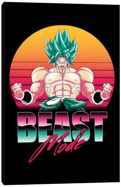 Beast Mode Saiyan Canvas Art Print