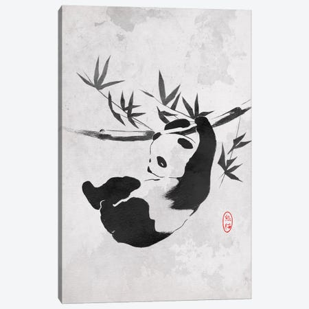 Giant Panda 3-Piece Canvas #DOI344} by Denis Orio Ibañez Canvas Artwork