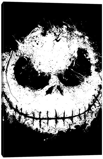 Ink Nightmare Canvas Art Print