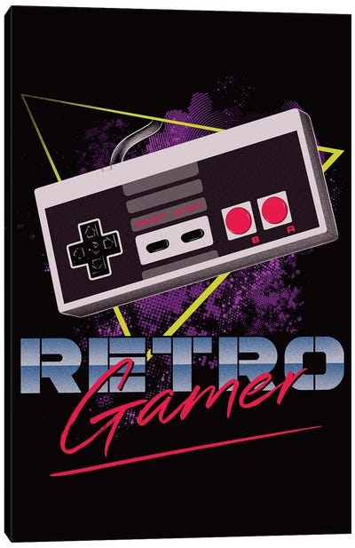 Retro Gamer Canvas Art Print