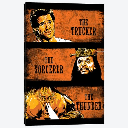 The Trucker, The Sorcerer And The Thunder Canvas Print #DOI359} by Denis Orio Ibañez Canvas Wall Art