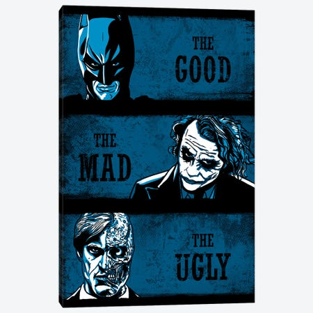 The Good The Mad And The Ugly 3-Piece Canvas #DOI367} by Denis Orio Ibañez Canvas Art