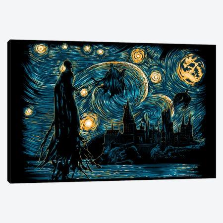 Starry Dementors Canvas Print #DOI377} by Denis Orio Ibañez Canvas Art Print