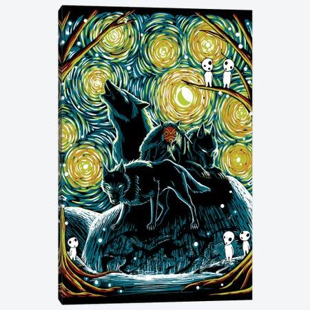 Starry Forest Canvas Print #DOI379} by Denis Orio Ibañez Canvas Art