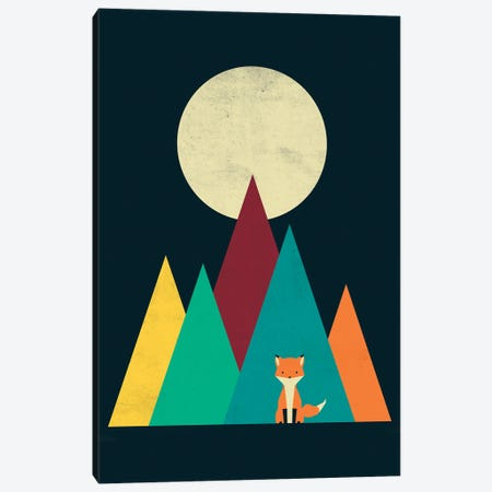 Red Fox Canvas Print #DOI385} by Denis Orio Ibañez Canvas Artwork