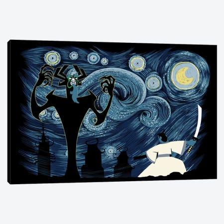 Starry Samurai Canvas Print #DOI391} by Denis Orio Ibañez Canvas Art