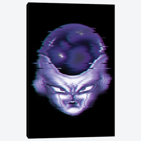 Glitch Frieza Canvas Print #DOI402} by Denis Orio Ibañez Canvas Art