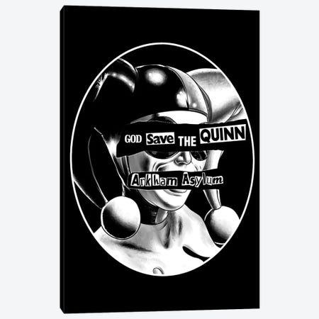 God Save The Quinn Canvas Print #DOI404} by Denis Orio Ibañez Canvas Art Print